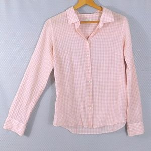 ❤️ SALE J Crew Pink Gingham Button Down